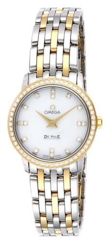 OMEGA De Ville Prestige 18ct Gold & Diamond Ladies Watch 413.25.27.60.55.001